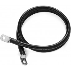 1m batterikabel med kabelskor 50mm2, svart